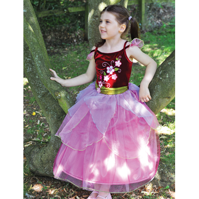 Girls Sugar Velvet Plum Fairy Princess Fancy Dress Up Costume